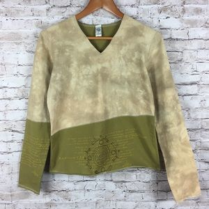 Prana Tantric Embroidered Earth Tones Yoga Top
